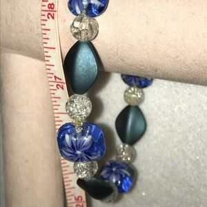Jewelry - New Lampwork Glass Bead Stretch Bracelet